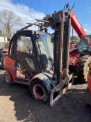 2005 Linde H50D-03, spares or repair Engine missing and anything else you see in the pictures.