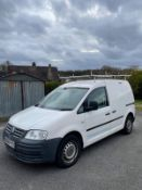 2008 VOLKSWAGEN CADDY 69PS SDI, 2.0 DIESEL, WHITE, SHOWING 3 FORMER KEEPERS, NO VAT