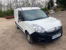 2016/66 REG VAUXHALL COMBO 2000 L1H1 CDTI 1.25 DIESEL WHITE PANEL VAN, SHOWING 0 FORMER KEEPERS