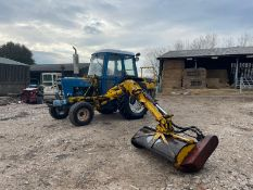 FORD 6600 TRACTOR WITH MID MOUNTED MOWER, RUNS, DRIVES AND WORKS, TYRES ARE LIKE NEW *PLUS VAT*