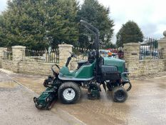 2009 HAYTER LT324 CYLINDER MOWER, RUNS, DRIVES AND CUTS, IN GOOD CONDITION, LOW 2765 HOURS, ROLL BAR
