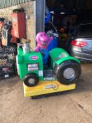 BARNEY KIDS COIN RIDE, 1 POUND TO PLAY, WORKING CONDITION *PLUS VAT*