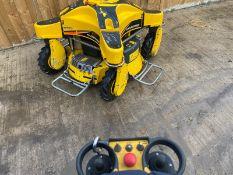RANSOMES SPIDER ILD01 4WD REMOTE CONTROLLED BANKING MOWER, KAWASAKI PETROL ENGINE *PLUS VAT*