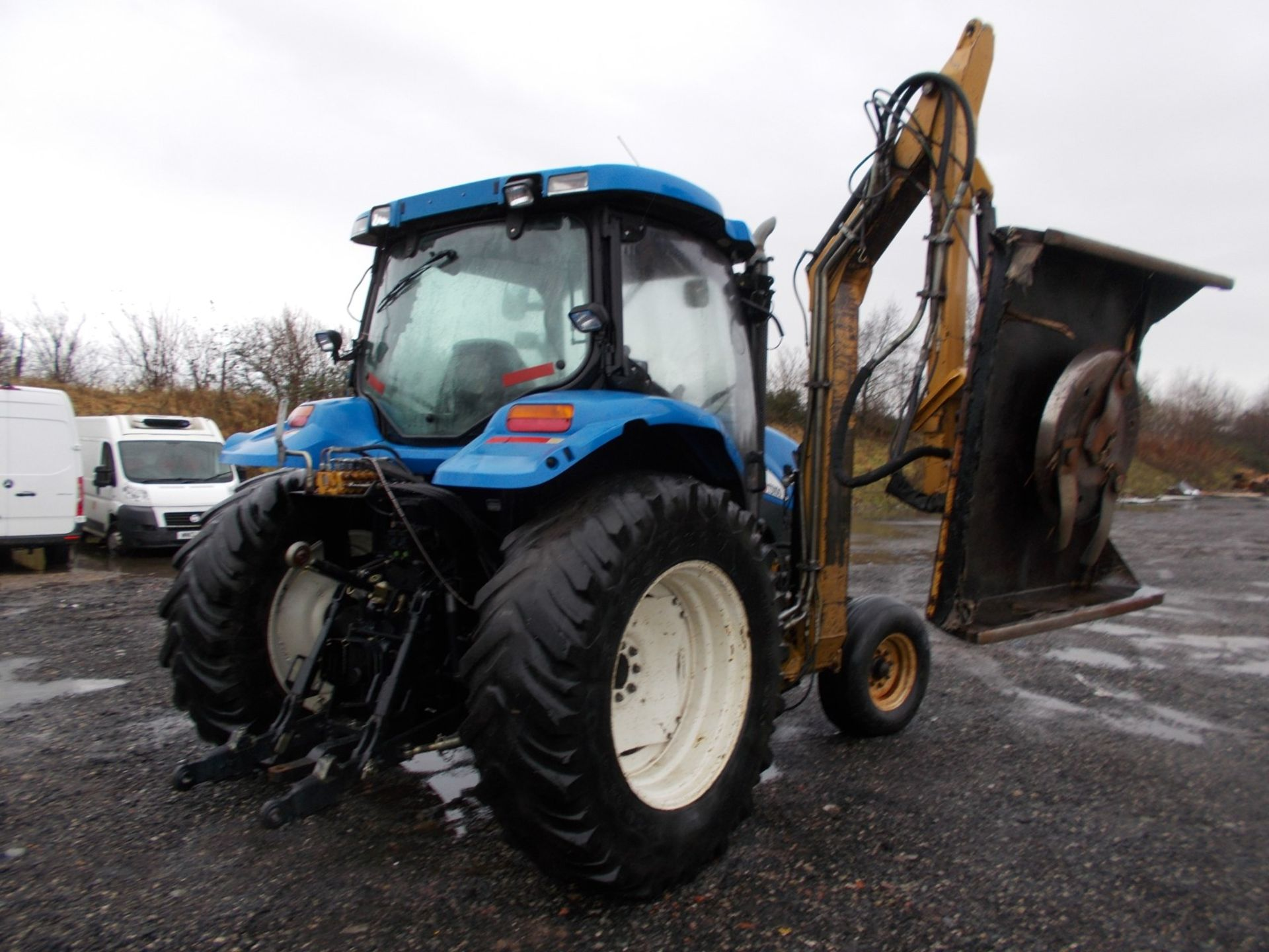 2003 NEW HOLLAND TS100A TRACTOR WITH MOWER ATTACHMENT, 4.5 LITRE 100HP TURBO DIESEL *PLUS VAT* - Image 5 of 24