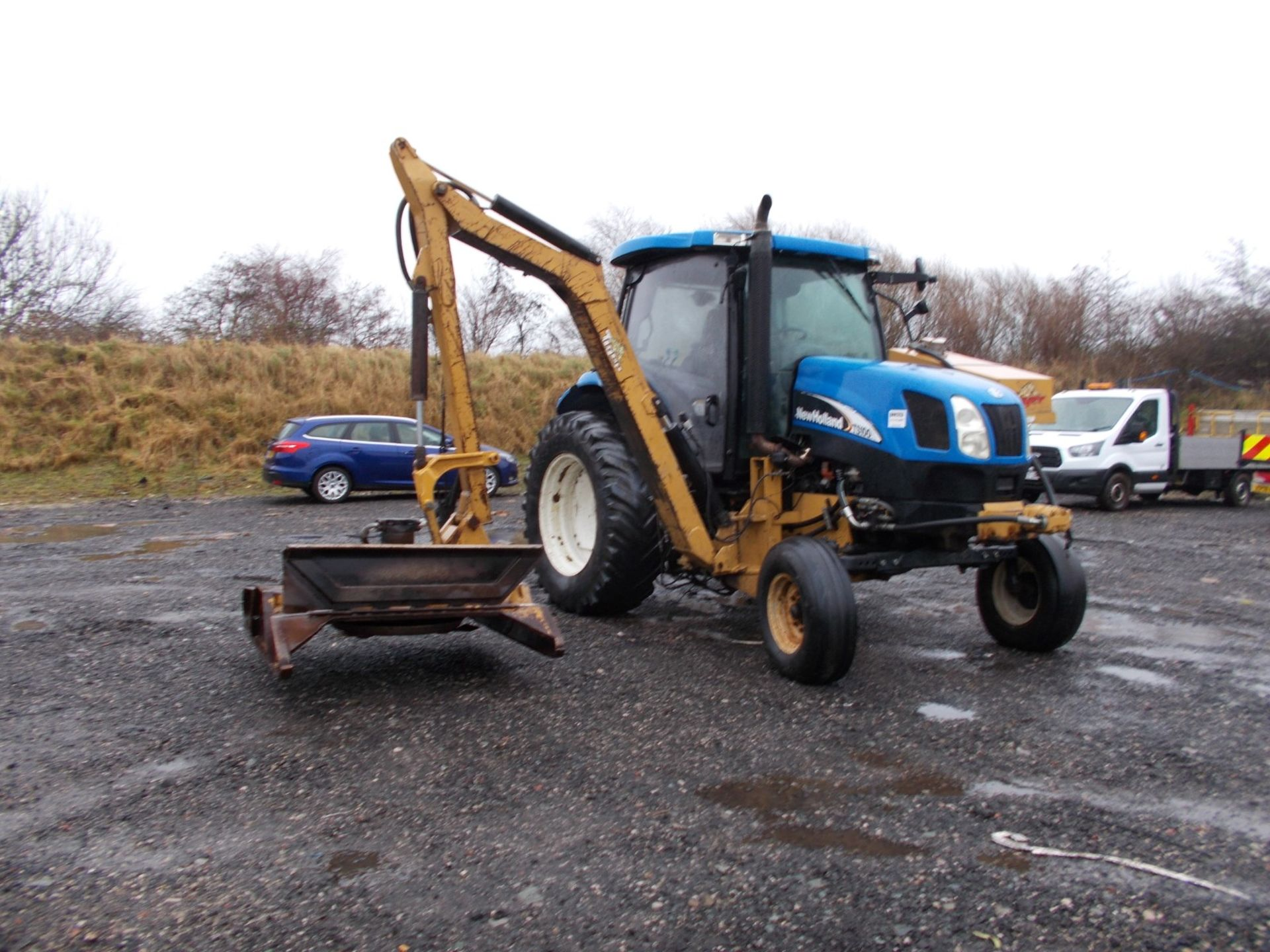 2003 NEW HOLLAND TS100A TRACTOR WITH MOWER ATTACHMENT, 4.5 LITRE 100HP TURBO DIESEL *PLUS VAT* - Image 11 of 24