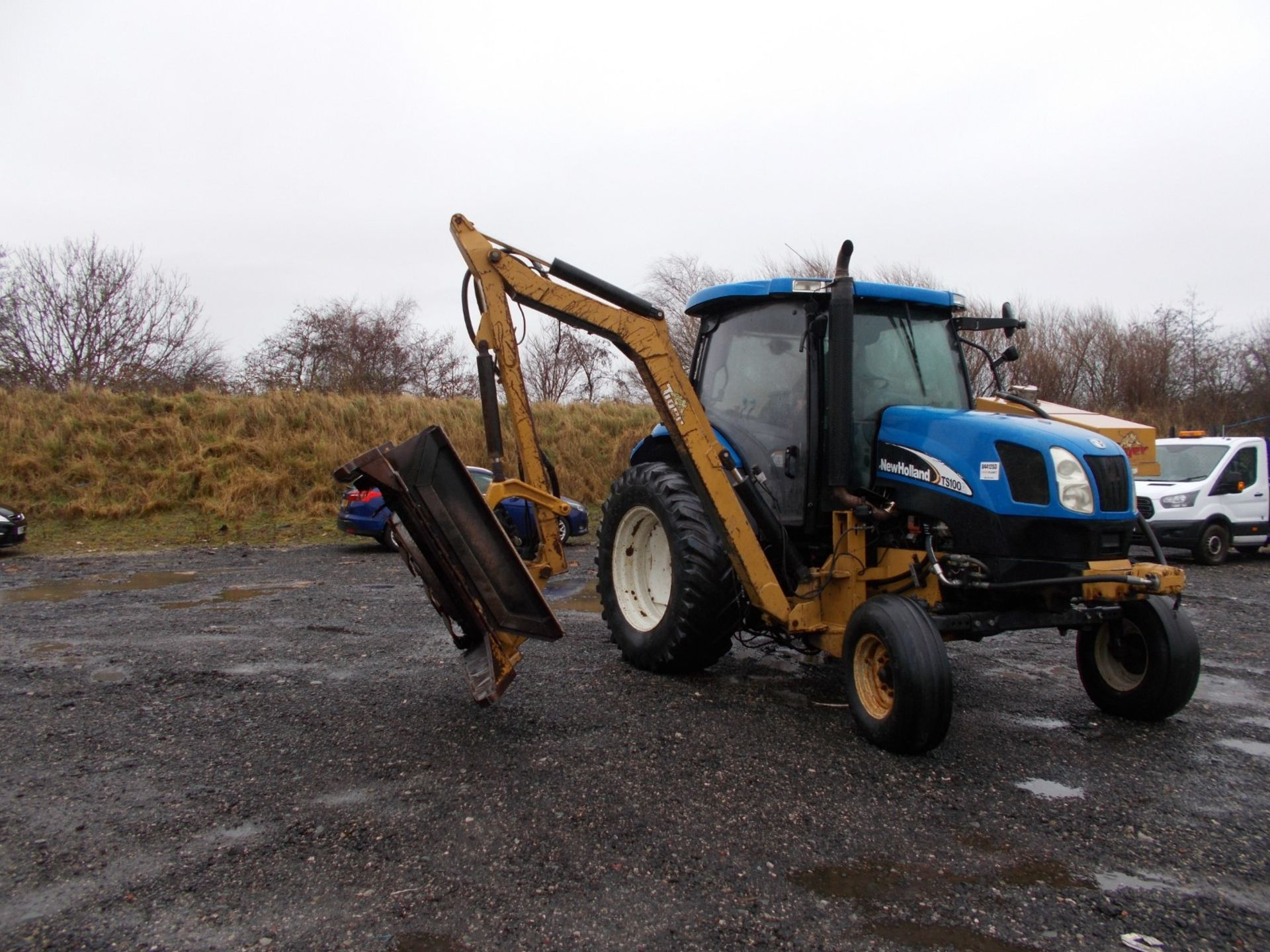 2003 NEW HOLLAND TS100A TRACTOR WITH MOWER ATTACHMENT, 4.5 LITRE 100HP TURBO DIESEL *PLUS VAT* - Image 7 of 24