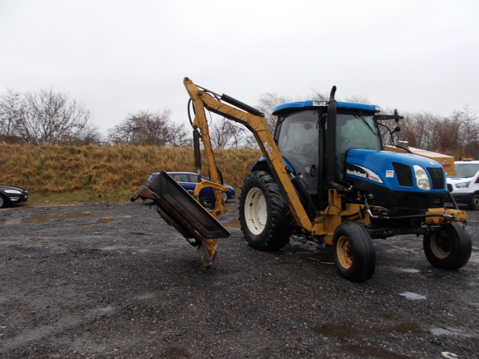 2003 NEW HOLLAND TS100A TRACTOR WITH MOWER ATTACHMENT, 4.5 LITRE 100HP TURBO DIESEL *PLUS VAT* - Image 8 of 24