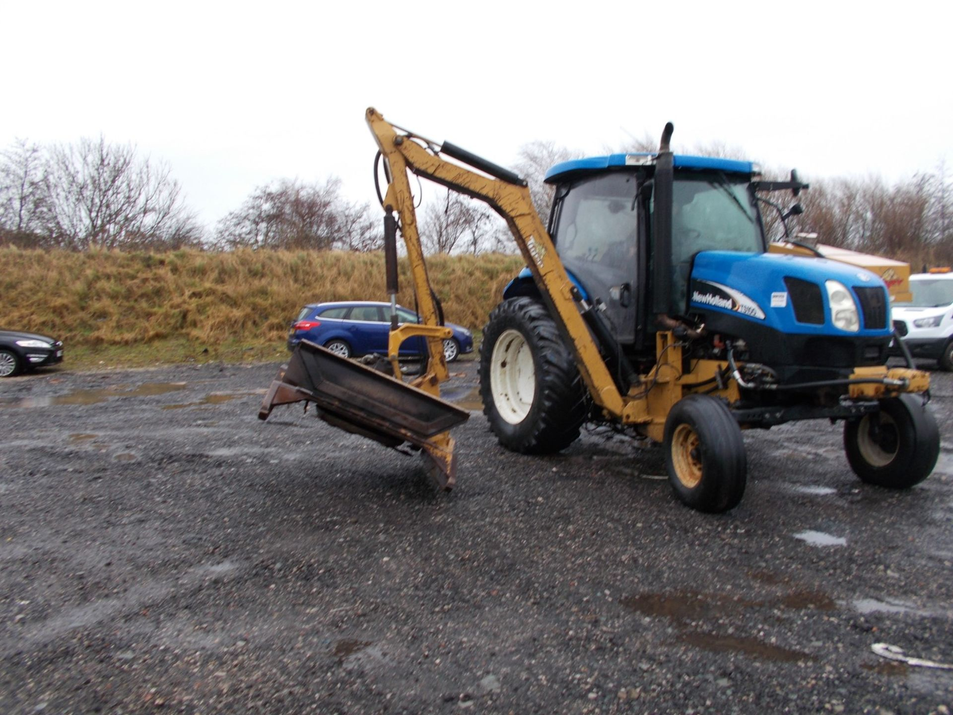 2003 NEW HOLLAND TS100A TRACTOR WITH MOWER ATTACHMENT, 4.5 LITRE 100HP TURBO DIESEL *PLUS VAT* - Image 9 of 24