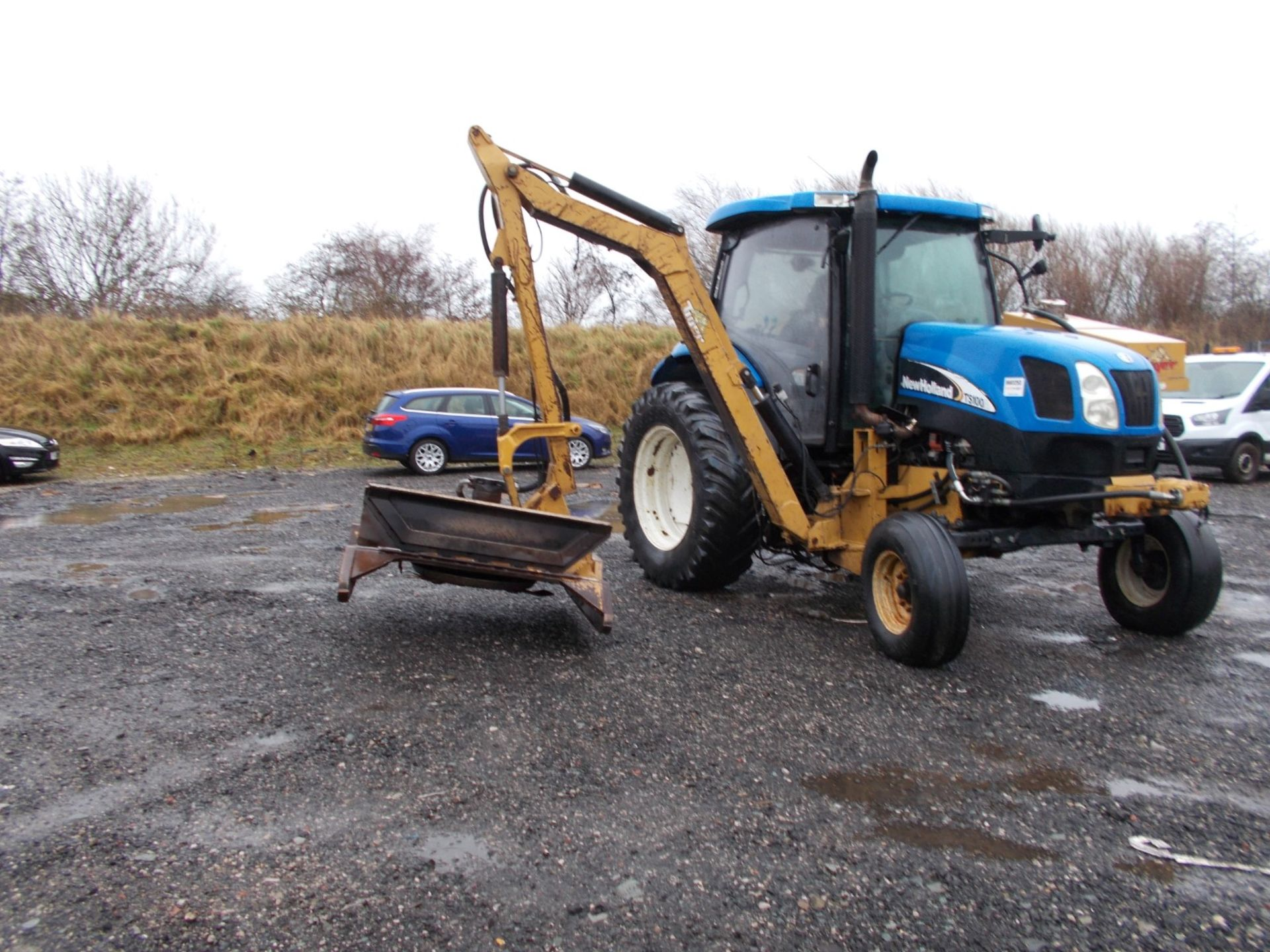 2003 NEW HOLLAND TS100A TRACTOR WITH MOWER ATTACHMENT, 4.5 LITRE 100HP TURBO DIESEL *PLUS VAT* - Image 10 of 24