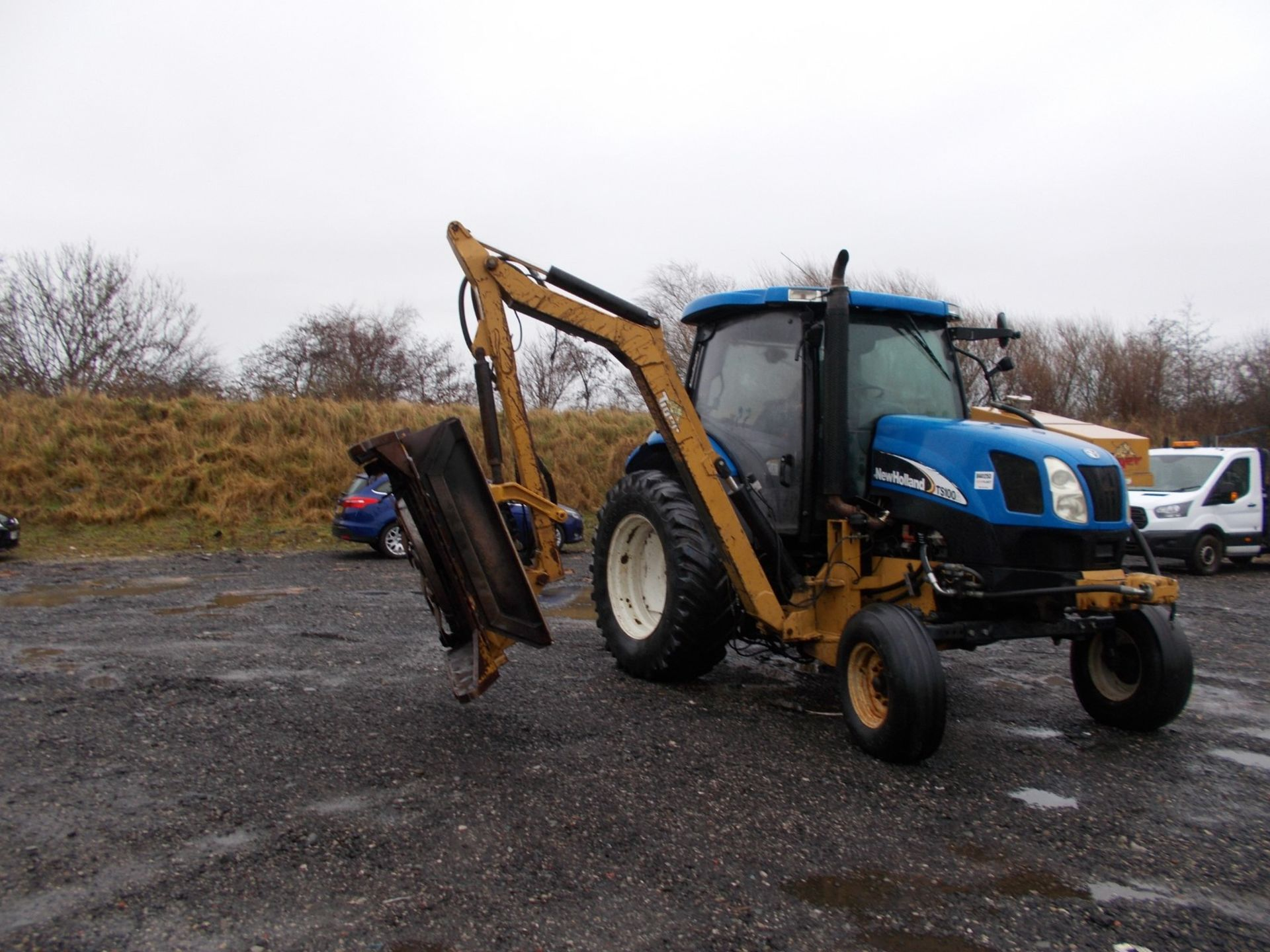 2003 NEW HOLLAND TS100A TRACTOR WITH MOWER ATTACHMENT, 4.5 LITRE 100HP TURBO DIESEL *PLUS VAT* - Image 15 of 24
