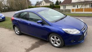 2014/14 REG FORD FOCUS EDGE ECONETIC TDCI 1.6 DIESEL BLUE 5 DOOR, SHOWING 3 FORMER KEEPERS *NO VAT*