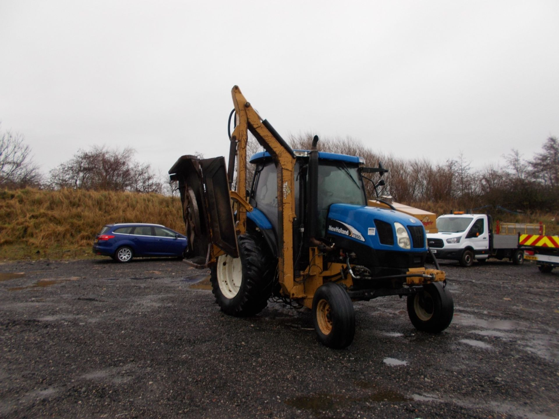 2003 NEW HOLLAND TS100A TRACTOR WITH MOWER ATTACHMENT, 4.5 LITRE 100HP TURBO DIESEL *PLUS VAT* - Image 14 of 24