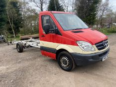 2009 MERCEDES SPRINTER 311 CDI LWB CAB CHASSIS, BOX VAN, 2.2 DIESEL ENGINE *PLUS VAT*