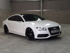 2012/12 REG AUDI A7 S LINE TDI 3.0 DIESEL AUTOMATIC WHITE 5 DOOR, SHOWING 4 FORMER KEEPERS *NO VAT*