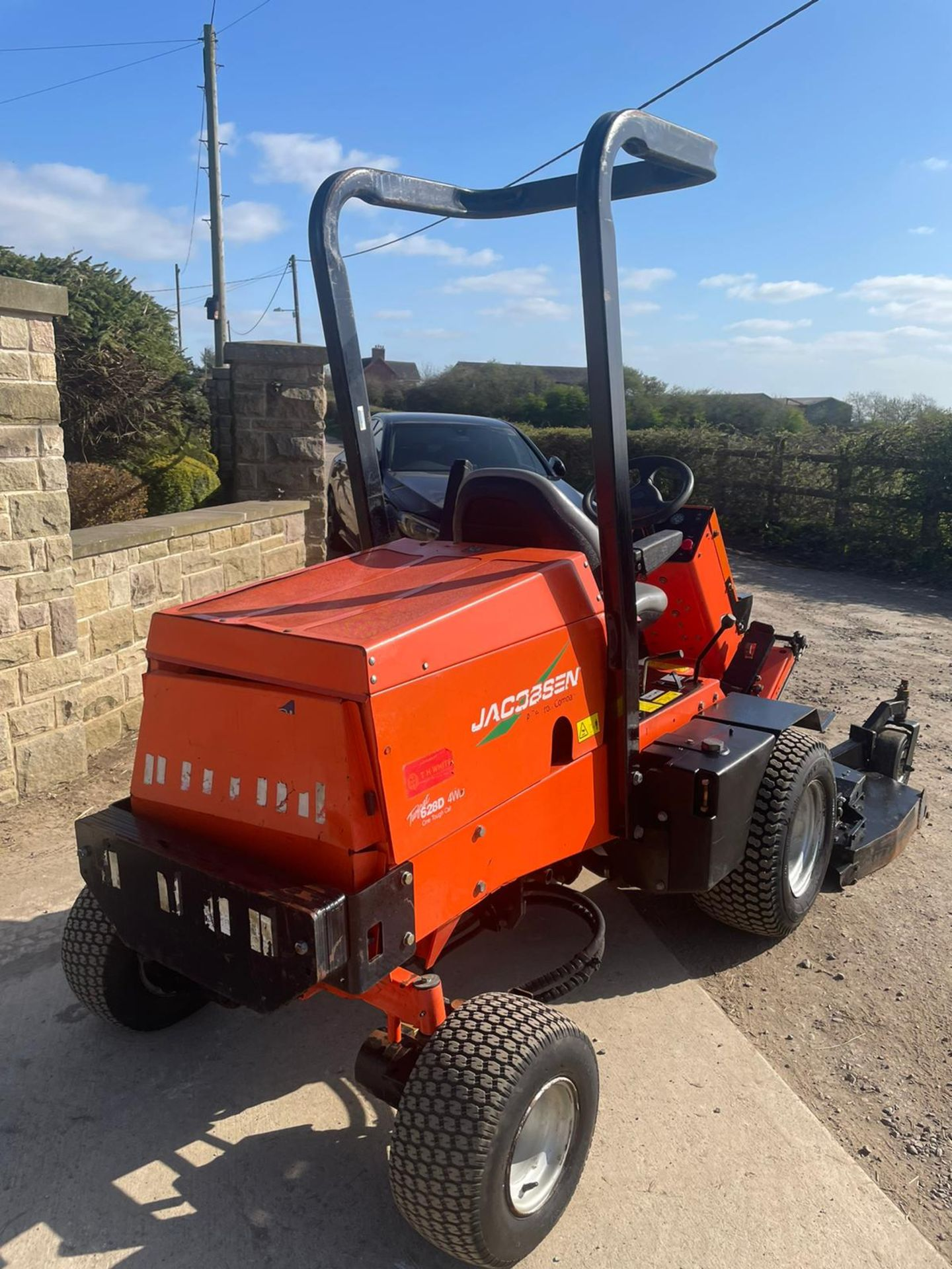 2013 JACOBSON 628D RIDE ON LAWN MOWER OUT FRONT, VERY GOOD CONDITION, 4 WHEEL DRIVE *NO VAT* - Image 5 of 7