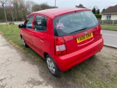 2006/06 REG KIA PICANTO LX 1.1L PETROL RED 5 DOOR HATCHBACK, SHOWING 4 FORMER KEEPERS *NO VAT*