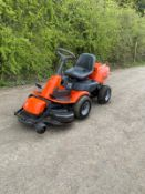 HUSQVARNA R13 FOUR WHEEL DRIVE RIDE ON LAWN MOWER, RUNS DRIVES AND CUTS *NO VAT*