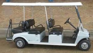 2019 CLUB CART 6 SEATER BUGGY, RUNS AND DRIVES, HAS ROAD LIGHTS AND INDICATORS *NO VAT*