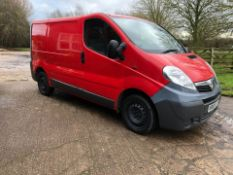 2009/59 REG VAUXHALL VIVARO 2700 CDTI SWB 2.0 DIESEL PANEL VAN, SHOWING 0 FORMER KEEPERS *PLUS VAT*