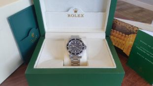 ROLEX SUBMARINER K SERIES STEEL FINISH WATCH NO VAT