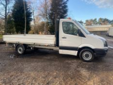 2015/65 REG VOLKSWAGEN CRAFTER CR35 TDI 2.0 DIESEL WHITE DROPSIDE LORRY *PLUS VAT*