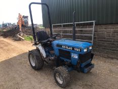 NEW HOLLAND 1220 COMPACT TRACTOR, 3287 HOURS, RUNS, DRIVES, NOISY ENGINE *PLUS VAT*