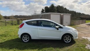 2012 FORD FIESTA ZETEC, 3 DOOR HATCHBACK, WHITE, MANUAL, PETROL, 3 PREVIOUS KEEPERS, NO VAT