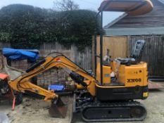 2019 RHINOCEROS XN08 RUBBER TRACKED CRAWLER / MINI DIGGER EXCAVATOR, RUNS AND WORKS *PLUS VAT*