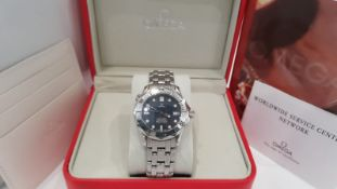 Omega Seamaster Professional 300m Wave Dial Mens Watch NO VAT