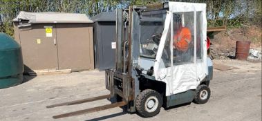 KALMAR 1.6T GAS CONTAINER SPEC FORKLIFT, STARTS DRIVES AND LIFTS TO 3.3M *PLUS VAT*