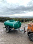 TOW BEHIND WATER BOWSER, 1000 LITRE *PLUS VAT*