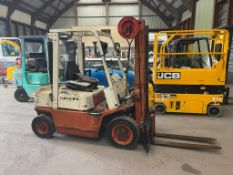 NISSAN QF02A DIESEL FORKLIFT, 2 TON LIFT TO 3.3M, SIDE SHIFT, WEIGHT 3.380KG *PLUS VAT*