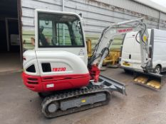 2020 TAKEUCHI TB230 3 TON EXCAVATOR 27hrs ONLY! WARRANTED AND STILL UNDER GUARANTEE