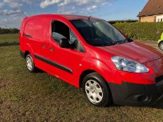 2014 PEUGEOT PARTNER 750 S L2 HDI, 1.6 DIESEL ENGINE, SHOWING 0 PREVIOUS KEEPERS *NO VAT*