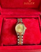 WOMENS ROLEX WATCH COMPLETE WITH FACTORY DIAMOND DIAL, BOX AND PAPERS *NO VAT*