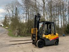 TCM 2.5TON FORKLIFT, RUNS DRIVES AND LIFTS, YEAR 2007, STILL IN DAILY USE *PLUS VAT*
