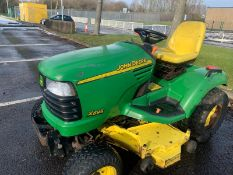JOHN DEERE X595 4WD RIDE ON LAWN MOWER, YEAR 2007, JUST HAD £800 SPENT ON THE DECK, GREAT MACHINE