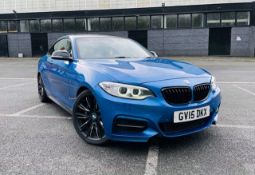 2015/15 REG BMW M235I 3.0 PETROL AUTOMATIC BLUE COUPE 2 SERIES, SHOWING 4 FORMER KEEPERS *NO VAT*