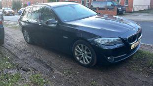 2012/12 REG BMW 520D SE AUTO 2.0 DIESEL BLACK ESTATE, SHOWING 2 FORMER KEEPERS *NO VAT*