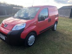 2010 PEUGEOT BIPPER S HDI, RED PANEL VAN, 1.4 DIESEL ENGINE, SHWOING 0 PREVIOUS KEEPERS *NO VAT*