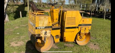 BENFORD TV 100 1000MM ROAD ROLLER TWIN DRUM VIBRATING LISTER ENGINE, OWNED FOR 20+ YEARS *PLUS VAT*