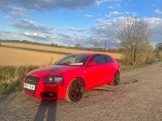2007 AUDI A3 S LINE TFSI, 1.4 DIESEL ENGINE, SHOWING 7 PREVIOUS KEEPERS *NO VAT*