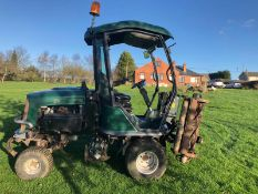 2007/07 REG HAYTER RIDE ON DIESEL LAWN MOWER WITH CAB (NO GLASS) *PLUS VAT*
