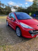 2007 PEUGEOT 207 GT 1.6 PETROL RED 3 DOOR HATCHBACK, SHOWING 5 FORMER KEEPERS *NO VAT*