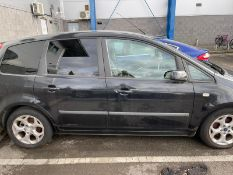 2007 FORD C-MAX ZETEC, BLACK MPV, 1.8 PETROL ENGINE, SHOWING 1 PREVIOUS KEEPERS *PLUS VAT*