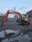 DAEWOO DH 13 TON STEEL TRACKED CRAWLER DIGGER / EXCAVATOR SIX CYLINDER ENGINE 6199 HOURS *NO VAT*