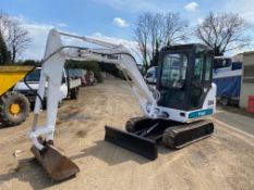 2004 BOBCAT 334D RUBBER TRACKED MINI DIGGER/ EXCAVATOR,2800 HOURS STARTS RUNS AND OPERATES *PLUS VAT