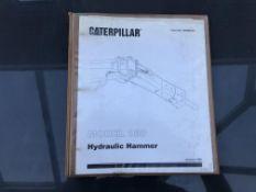 CATERPILLAR MODEL 180 HAMMER SERVICE MANUAL, GENUINE FACTORY CAT WORKSHOP MANUAL