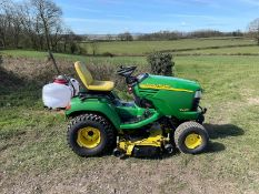 JOHN DEERE X495 RIDE ON MOWER, RUNS DRIVES AND CUTS, HYDROSTATIC, LOW 1460 HOURS *PLUS VAT*
