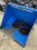 BEDDING SPREADER, SUITABLE FOR JCB BRACKET, USED FOR BEDDING ANIMALS DOWN *PLUS VAT*